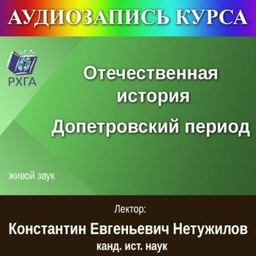 Отечественная история. Допетровский период